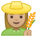 Woman Farmer: Medium-Light Skin Tone on Google Android 8.0