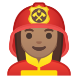 Woman Firefighter: Medium Skin Tone on Google Android 8.0
