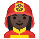 Woman Firefighter: Dark Skin Tone on Google Android 8.0