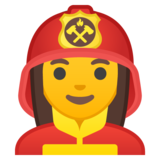 Woman Firefighter on Google Android 8.0