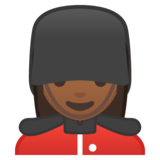Woman Guard: Medium-Dark Skin Tone on Google Android 8.0