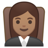 Woman Judge: Medium Skin Tone on Google Android 8.0