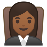 Woman Judge: Medium-Dark Skin Tone on Google Android 8.0