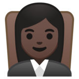 Woman Judge: Dark Skin Tone on Google Android 8.0
