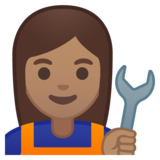 Woman Mechanic: Medium Skin Tone on Google Android 8.0