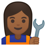 Woman Mechanic: Medium-Dark Skin Tone on Google Android 8.0
