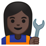 Woman Mechanic: Dark Skin Tone on Google Android 8.0