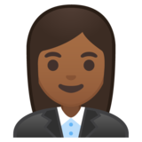 Woman Office Worker: Medium-Dark Skin Tone on Google Android 8.0