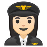 Woman Pilot: Light Skin Tone on Google Android 8.0