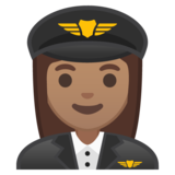 Woman Pilot: Medium Skin Tone on Google Android 8.0