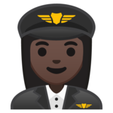 Woman Pilot: Dark Skin Tone on Google Android 8.0
