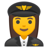 Woman Pilot on Google Android 8.0