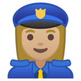 Woman Police Officer: Medium-Light Skin Tone on Google Android 8.0