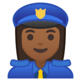 Woman Police Officer: Medium-Dark Skin Tone on Google Android 8.0