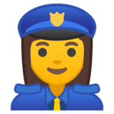 Woman Police Officer on Google Android 8.0