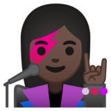 Woman Singer: Dark Skin Tone on Google Android 8.0