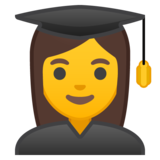 Woman Student on Google Android 8.0