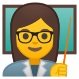 Woman Teacher on Google Android 8.0