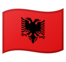 Flag: Albania on Google Android 8.0