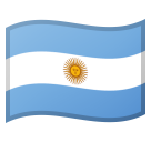 Flag: Argentina on Google Android 8.0