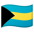 Flag: Bahamas on Google Android 8.0