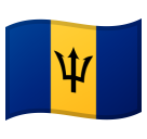 Flag: Barbados on Google Android 8.0