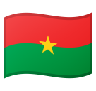 Flag: Burkina Faso on Google Android 8.0