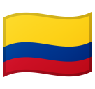 Flag: Colombia on Google Android 8.0