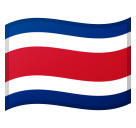 Flag: Costa Rica on Google Android 8.0