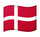 Flag: Denmark on Google Android 8.0