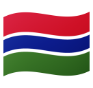 Flag: Gambia on Google Android 8.0