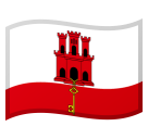 Flag: Gibraltar on Google Android 8.0