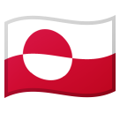 Flag: Greenland on Google Android 8.0