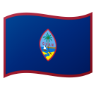 Flag: Guam on Google Android 8.0
