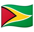 Flag: Guyana on Google Android 8.0