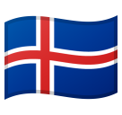 Flag: Iceland on Google Android 8.0