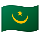 Flag: Mauritania on Google Android 8.0