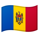 Flag: Moldova on Google Android 8.0