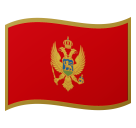 Flag: Montenegro on Google Android 8.0
