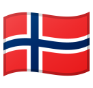 Flag: Norway on Google Android 8.0