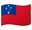 Flag: Samoa on Google Android 8.0