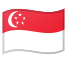 Flag: Singapore on Google Android 8.0
