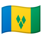 Flag: St. Vincent & Grenadines on Google Android 8.0