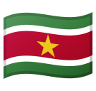 Flag: Suriname on Google Android 8.0