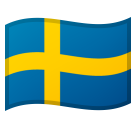 Flag: Sweden on Google Android 8.0