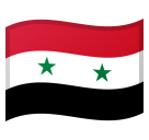 Flag: Syria on Google Android 8.0