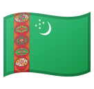 Flag: Turkmenistan on Google Android 8.0