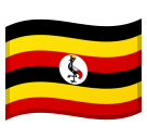 Flag: Uganda on Google Android 8.0