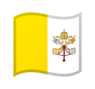Flag: Vatican City on Google Android 8.0