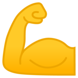 Flexed Biceps on Google Android 8.0